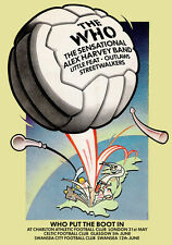 The Who Put The Boot In Tour Poster 1976 Alex Harvey Roger Chapman