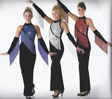 SPIRIT Sequin Fringe Jumpsuit Dance Costume Cheer Tap Jazz new