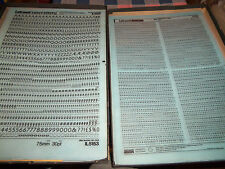 d. NOS Letraset Lettering 10 x 15 Sheet Various Fonts Sizes  Use Drop-Down Box