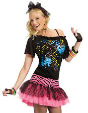 Sexy Womens 80s Party Pop Star Adult Halloween Costume