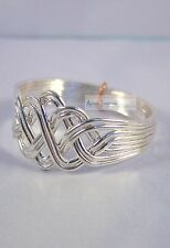 Silver 8 Band Princess Design Turkish Puzzle Ring .925 Sterling