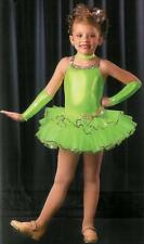WOW FACTOR Flo Green Ballet Tutu Dance Costume w/MITTs! Girls Child XS