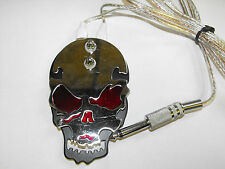 heavy duty flat skull Tattoo Foot Switch with red, black, yellow or blue eyes