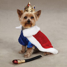 Zack & Zoey ROYAL PUP KING Pet Dog Halloween Costume XS S M L XL