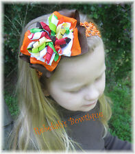 Gymboree FALL FOR AUTUMN M2MG M2M Hair Bow Headband Clip Thanksgiving Girl Baby