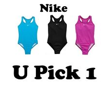 NIKE SWIMSUIT GIRLS POWER BACK 1 PIECE SIZE 8 10 NWT SWIMMING SUIT TEENS BATHING