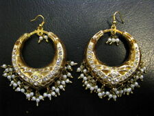 INDIAN BOLLYWOOD BELLY DANCE WEDDING LAKH HANDMADE BIG HOOPS EARRINGS AWESOME