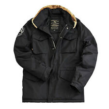 ALPHA INDUSTRIES TROOP FIELD JACKET / HERREN WINTER JACKE / BLACK SCHWARZ