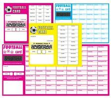 Football fundraising scratch cards, variety of teams (great quality, FREE P&P)