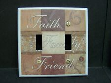 FAITH FAMILY FRIENDS 9 PATCH #5  LIGHT SWITCH COVER PLATE OR OUTLET COVER