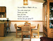 You Are Rich Or Poor - Wall Art Quote Decal Sticker 2