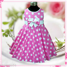 P3121 Toddler Girl Pinks Christmas Party Girls Dresses SIZE 2,3,4,5,6,7,8,9,10T