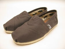 WOMENS TOMS CLASSIC CANVAS SLIP ON ASH GREY