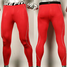 New Take Five Mens Compression 167 Sports Baselayer Tight Pants Red
