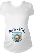Don't tap on the tank fish bowl maternity pregnancy t-shirt short or long sleeve