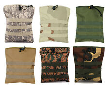 Tactical Military Airsoft Hunting Camo Molle Belt Magazine Dump Drop Pouch Bag