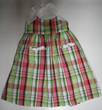 EUC Gymboree Palm Beach Paradise Plaid Halter Dress 4T 5T