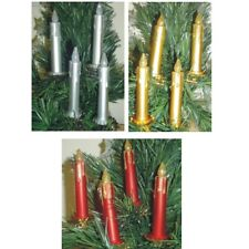 Pack of 4 Clip on Candle Christmas Tree Decorations P19