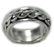 Modern Men's Spin Spinning Ring Sterling Silver 925 Valentines Jewelry Gift