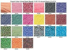 Czech Color Lined Seed Beads 11/0 2 of 2