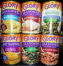 Glory Foods Southern Seasoned Style Canned Vegetables ( 3 Cans ) ~ Pick One