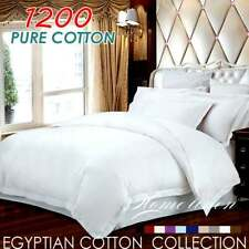 1200TC EGYPTIAN COTTON Quilt/Doona/Duvet Cover Set King/Queen/Double/Single Bed