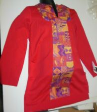 NWT PRAISE WEAR TUNIC Boys Print Praise Dance Liturgical Tabard Mens church danc