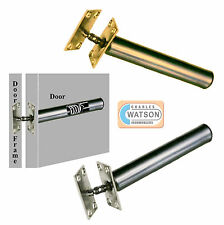 Concealed Internal Door Closer Chain Spring FIRE RATED Brass Nickel Tubular