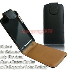 PREMIUM BLACK PU LEATHER CASE POUCH COVER FIT VARIOUS SONY ERICSSON XPERIA MODEL