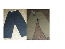 nwt GAP KIDS GapShield UNIFORM PLEATED Chino PANTS Khaki Navy Blue 5 R regular
