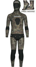 Cressi Sub Tecnica 3.5mm Wetsuit Camouflage Spearfishing Wetsuit FREE SOCKS!