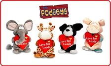 PODGEYS Cuddly Keel Toys Soft Stuffed Plush Valentines Day Gift Love Heart 35cm