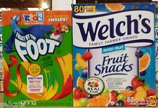 Welch's Motts Real Fruit Juice Snacks Assorted Pouches ~ Pick One