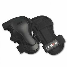 SFR Dual Splint Adjustable Velcro Wrist Guards Black - Scooter Skateboard Inline