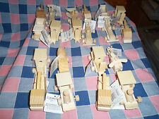 Crafts 4 Wood Mini Vehicles For Painting Train Car Layouts 3 1/4 - 4 Inches Long