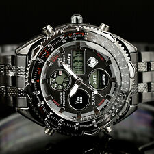INFANTRY Mens Digital Alarm Army Sport Quartz WATCH Stainless Steel Waterproof
