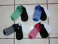 NWT WOMENS RALPH LAUREN POLO SOCKS 3 PAIRS SZ 9-11 U PICK!!