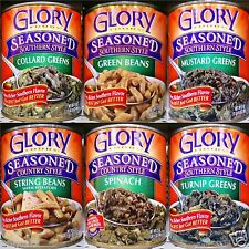 Glory Foods Southern Seasoned Style Large Canned Vegetables (2 Pack) ~ Pick One