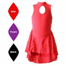 SALE SLEEVELESS LEOTARD WITH TAPERED SKIRT ATTACHED DANCE/BALLROOM/LATIN/SKATING