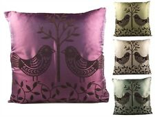 New Set of 2 Aldo Cushion Covers. Soft Faux Silk 43 x 43 cm. Modern Colours