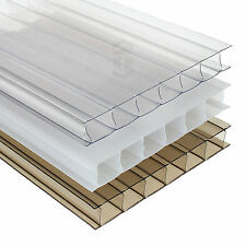 10mm Polycarbonate Sheet Conservatory Lean-To Carport Canopy Roof Glazing