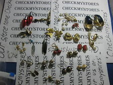 VINTAGE 20 PAIR EARRINGS  SOME  CUSTOM MADE AND DESIGN MIXED LOT
