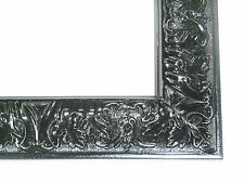 Small Gloss Black Victorian Wood Ornate Picture Frame-Custom Made Panoramic