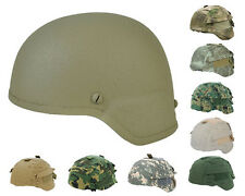Tactical Military Airsoft Paintball MICH 2000 Fiber Helmet Tan with Helmet Cover