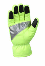 Green Police Security School Crossing Guard Traffic Safety Reflective Gloves