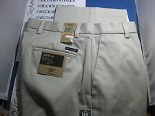 NWT $58 Dockers D4 Men's RELAXED FIT  Khaki Flat Front 100% COTTON BEIGE