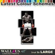 Muhammad Ali Sonny Liston Boxing Canvas Print Framed Photo Picture Wall Artwork