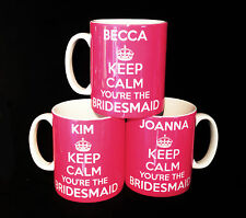 NEW KEEP CALM BRIDESMAID GIFTS MUG CUP PRESENTS WEDDING FAVOURS PERSONALISED