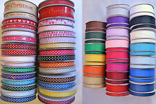 Grosgrain ribbon 4m to full 25m rolls 25mm  wedding craft sewing all colours etc