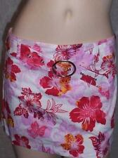 New Courtenay floral print or white skort mini attached front belt